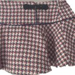 Checked woollen skirt with matching shirt
