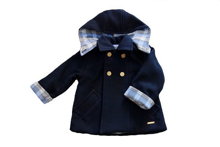 warm navy winter coat for boys and girls