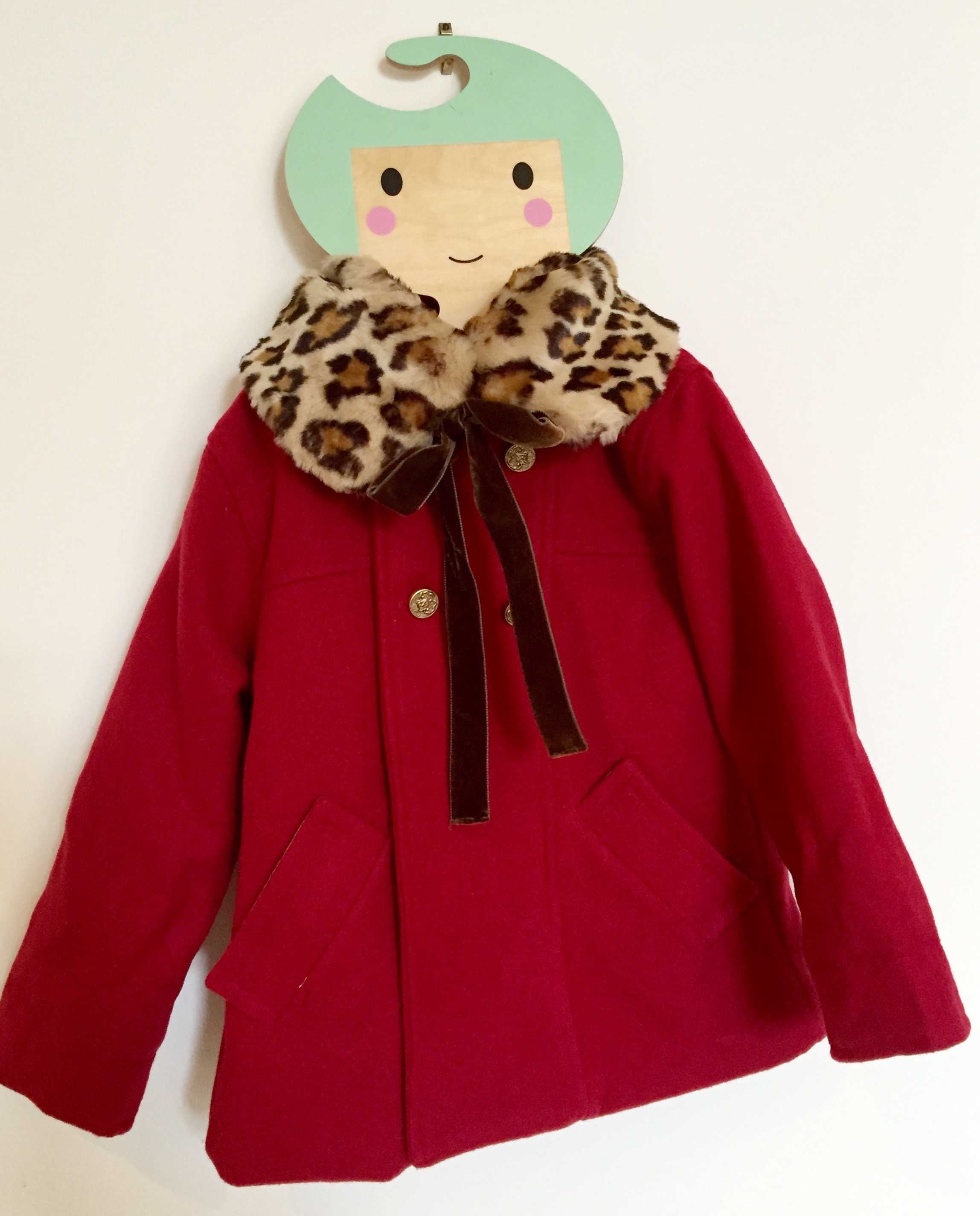 faux fur collar for girls and moms